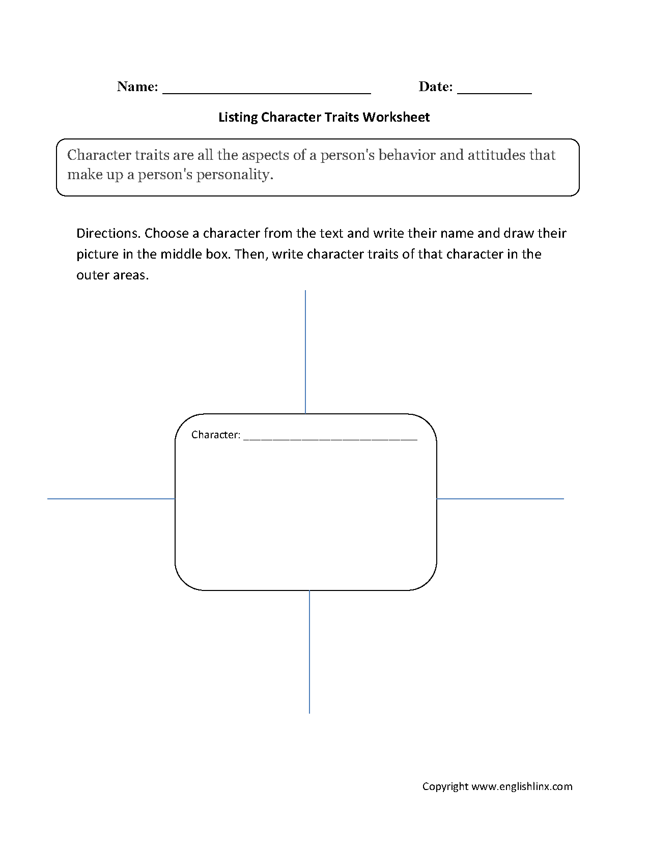 worksheet Character Trait Worksheets reading worksheets character traits listing worksheets