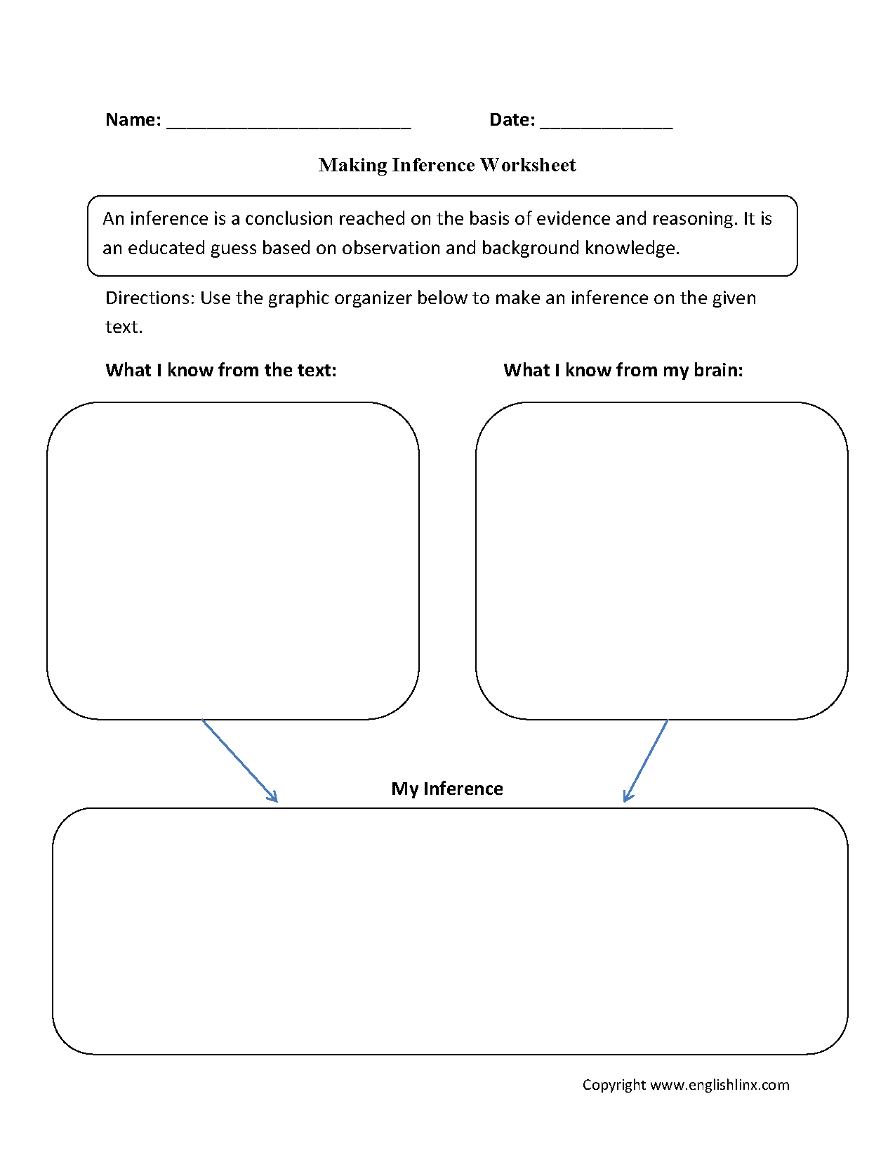 Reading Worksheets – Inferences Worksheets
