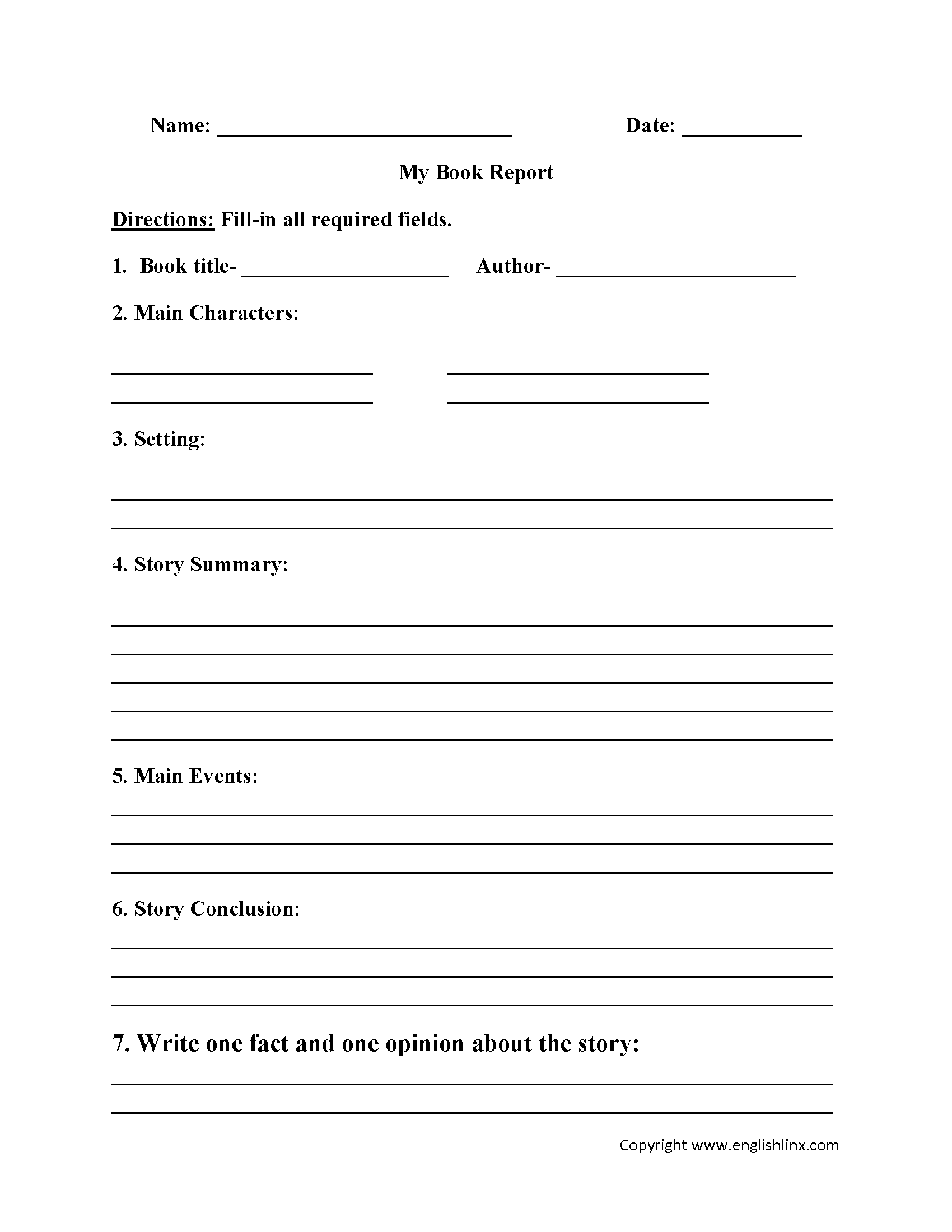 com book report worksheets book report worksheet