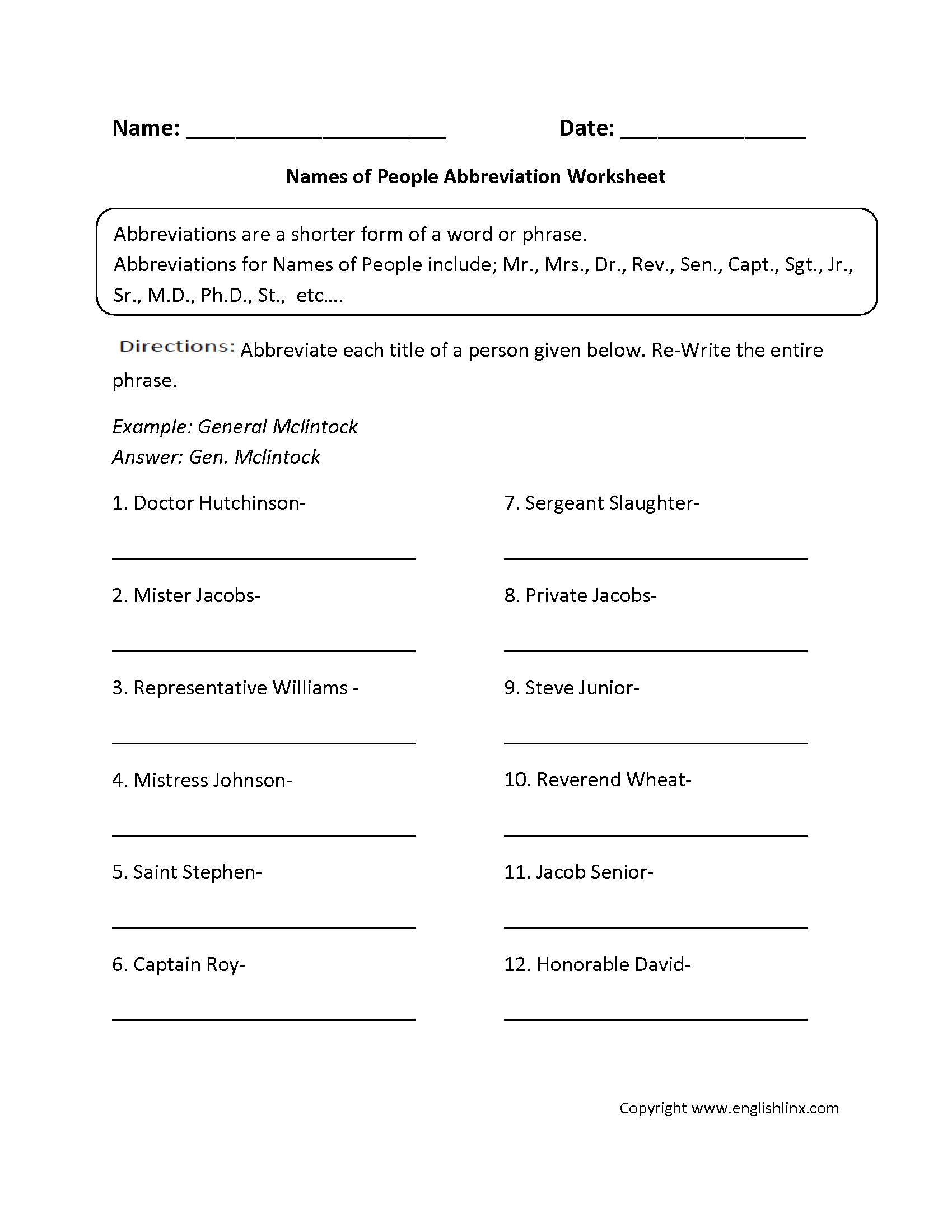 Printables Grammar Mechanics Worksheets grammar mechanics worksheets abbreviation worksheets