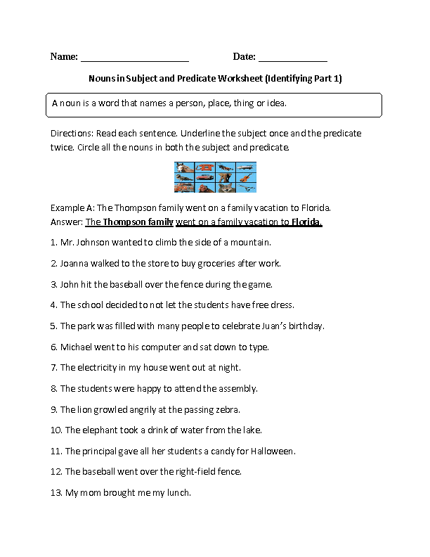 pronoun practice worksheet