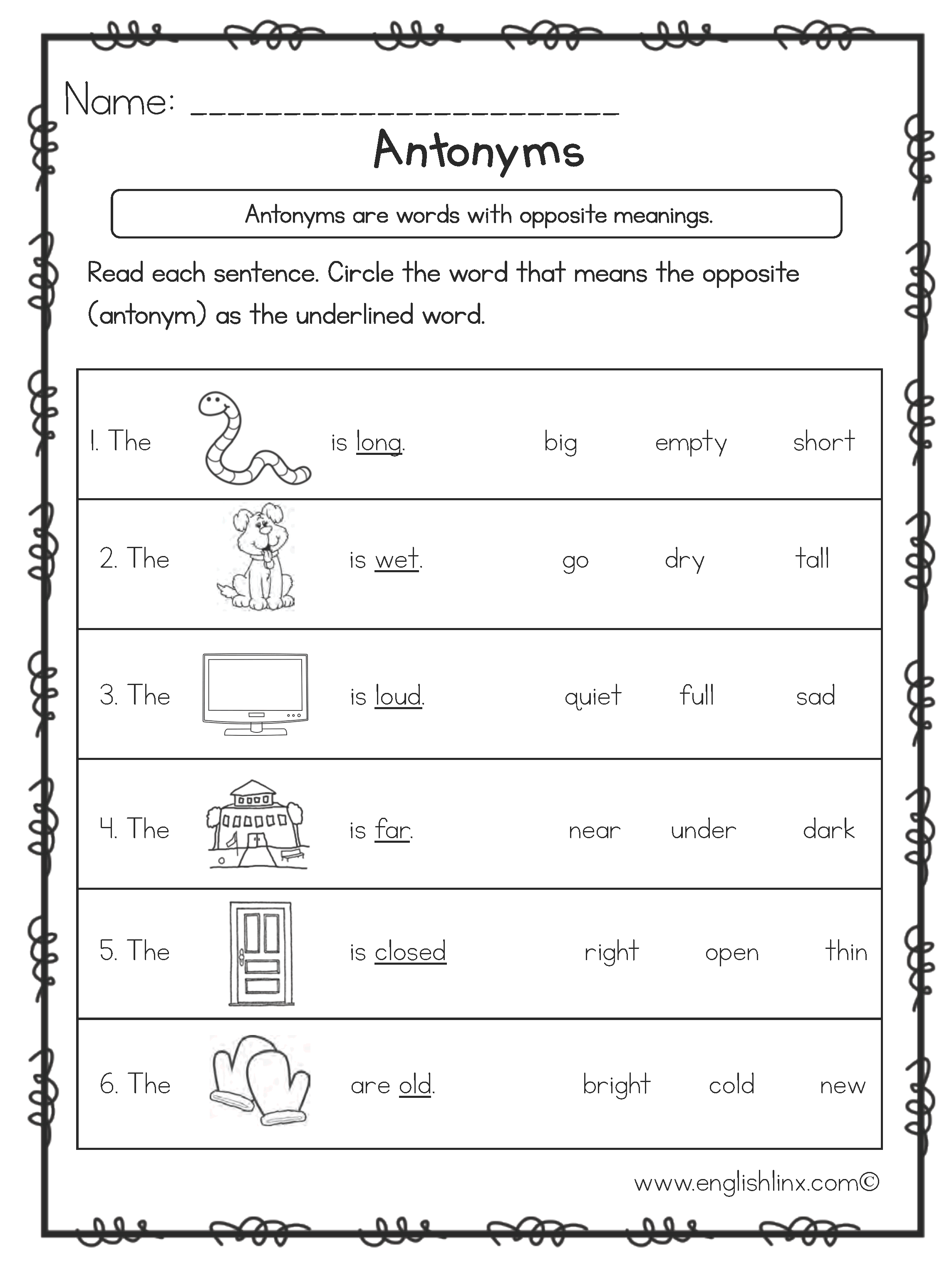 worksheet Opposite Worksheets antonyms worksheets opposite worksheets