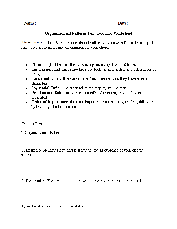 Englishlinx – Problem and Solution Worksheets