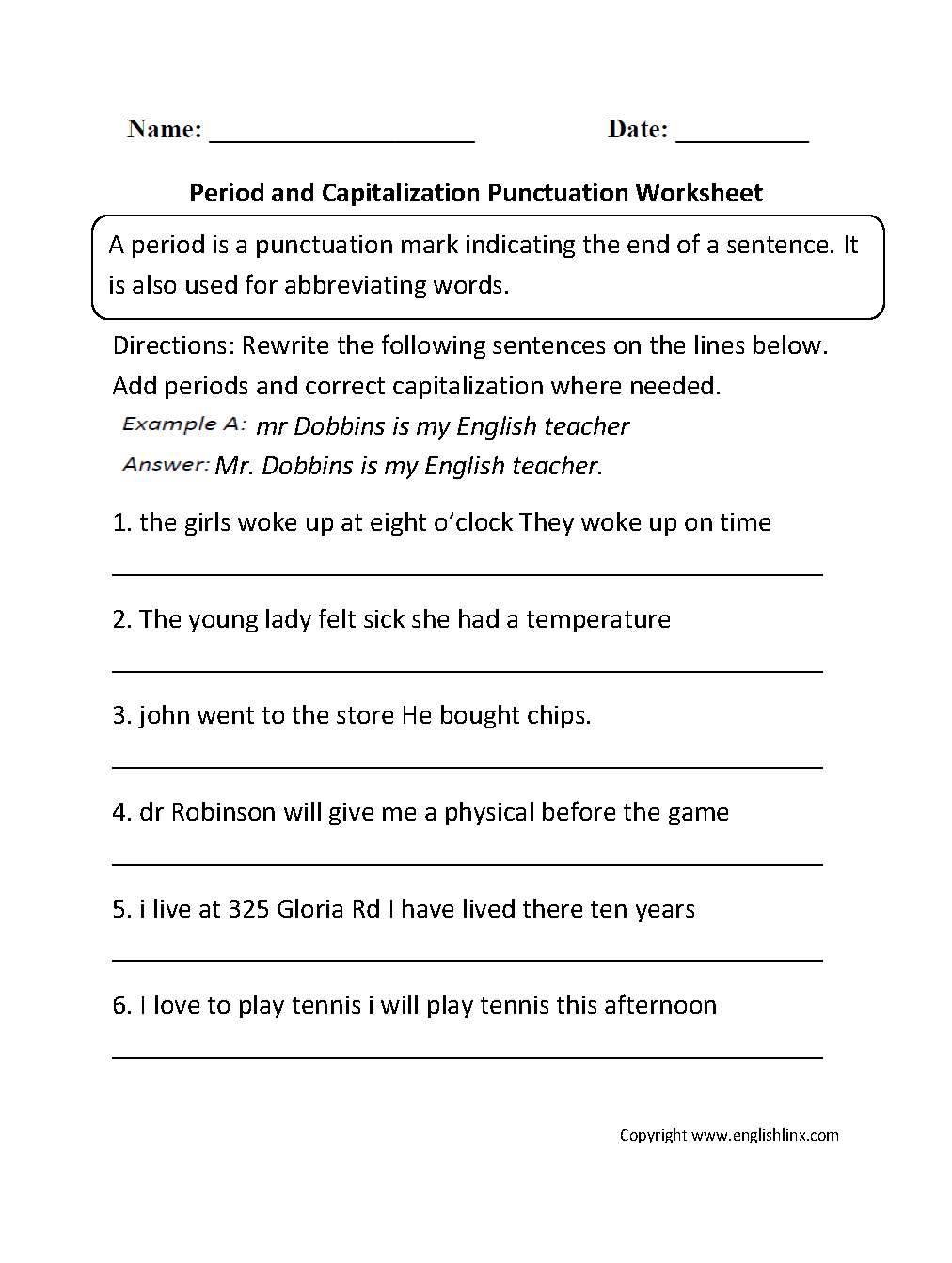 Printables Punctuation Worksheet punctuation worksheets ending worksheet
