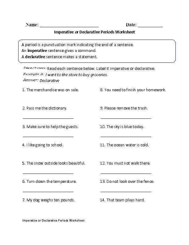 Englishlinx.com | Periods Worksheets