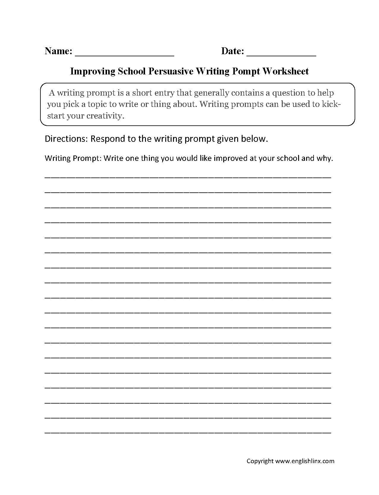 persuasive writing practice