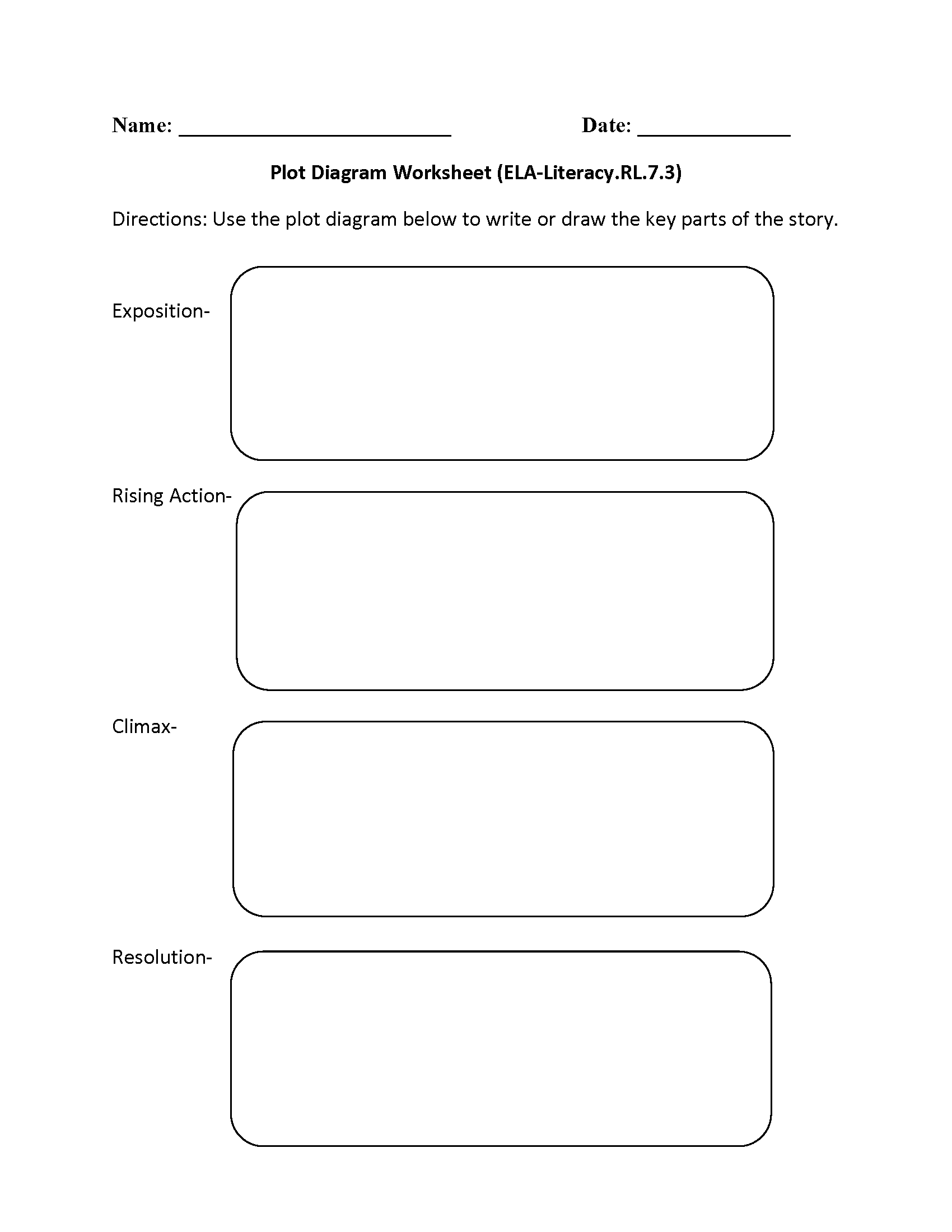 worksheet Plot Development Worksheet 7th grade common core reading literature worksheets plot diagram ela literacy rl 7 3 worksheet