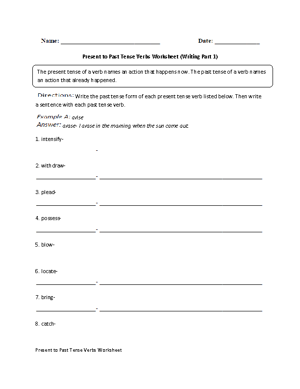write essay in past or present tense