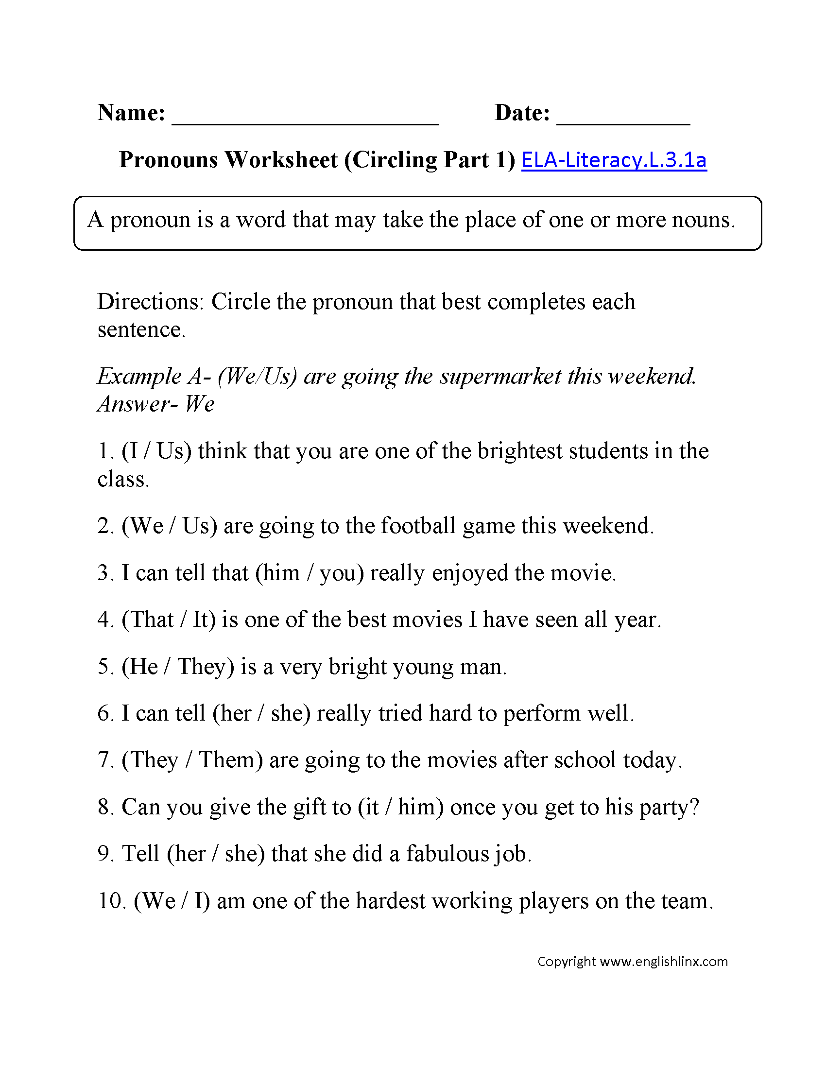 3rd Grade Common Core – 3rd Grade Worksheet
