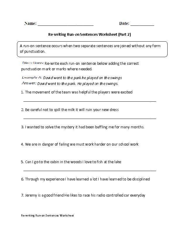 Englishlinx.com Sentences Worksheets