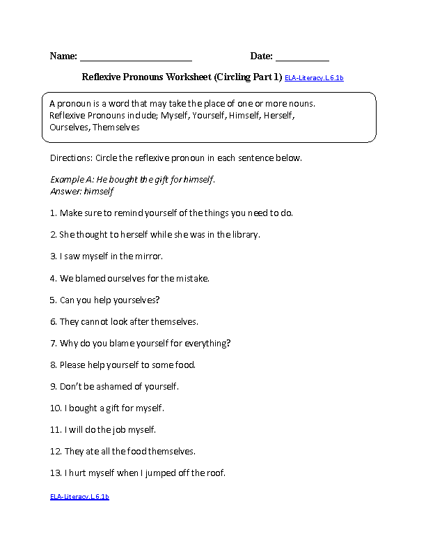 6th Grade Common Core | Language Worksheets