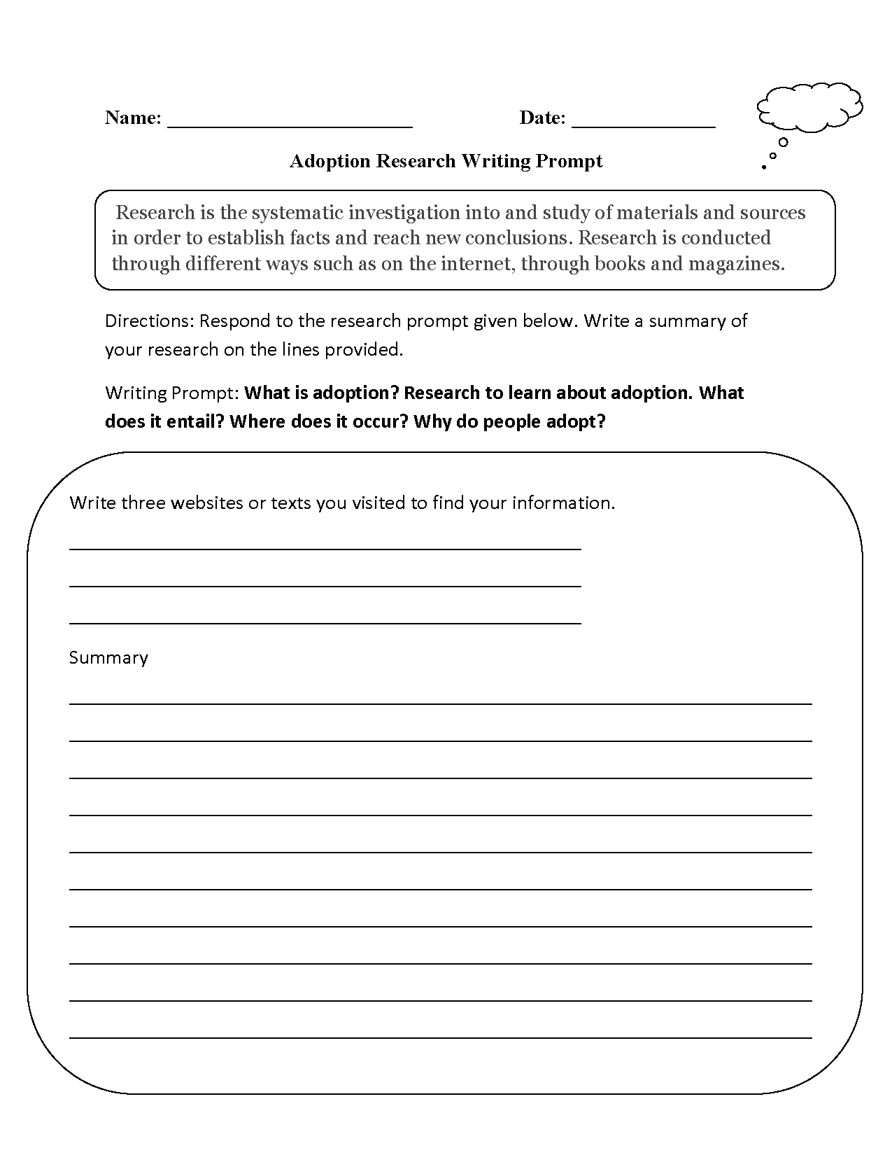 Englishlinx – Writing Prompts Worksheets