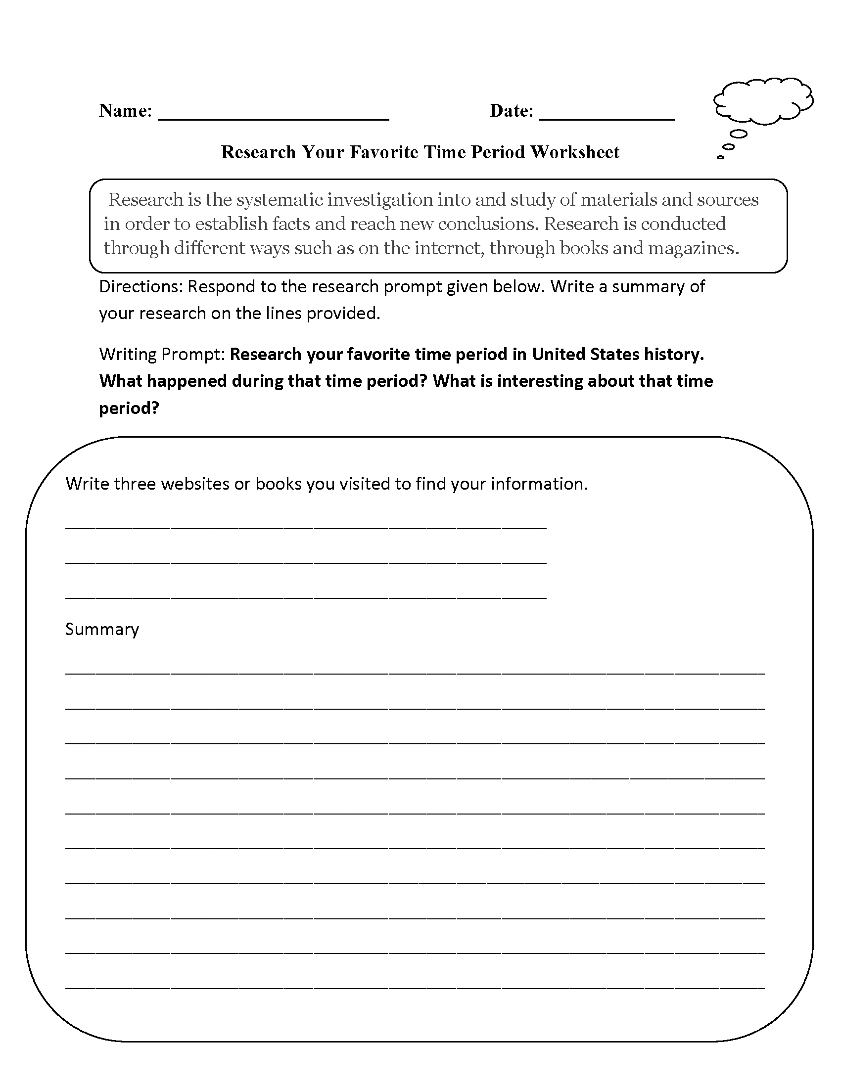Worksheets Time Study Worksheet englishlinx com research worksheets favorite time period worksheet