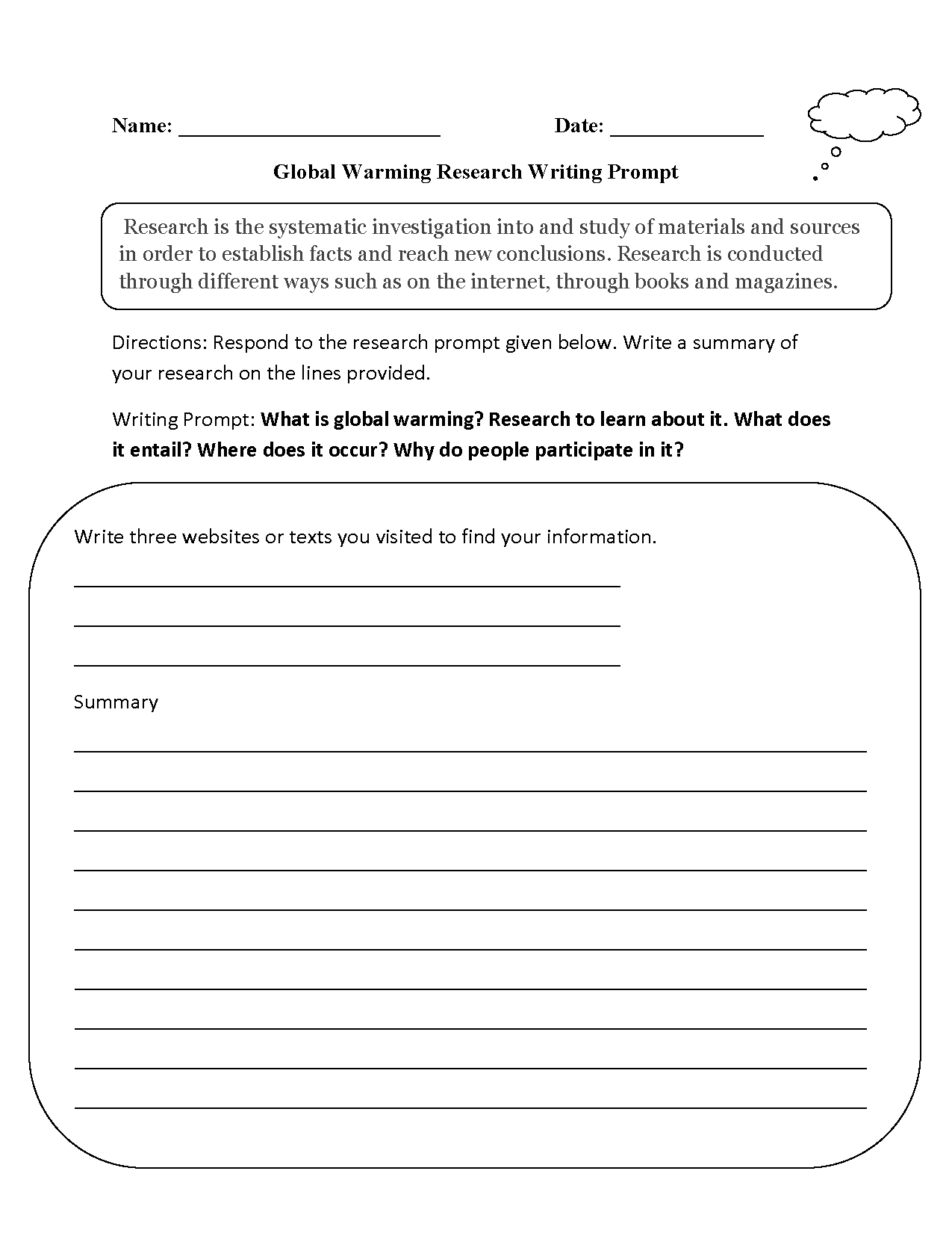 Worksheets Global Warming Worksheets writing prompts worksheets research global warming worksheet