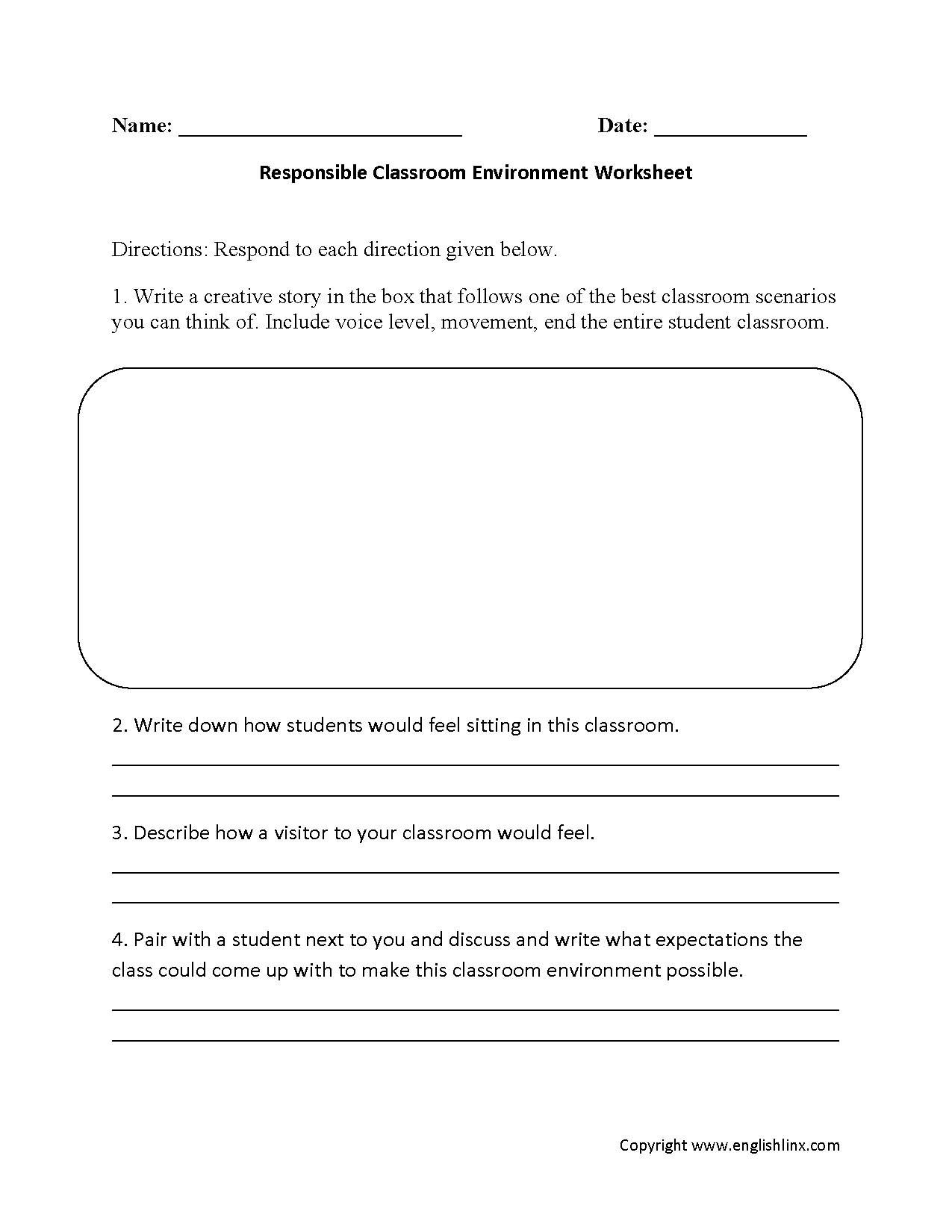 Englishlinx.com | Back to School Worksheets