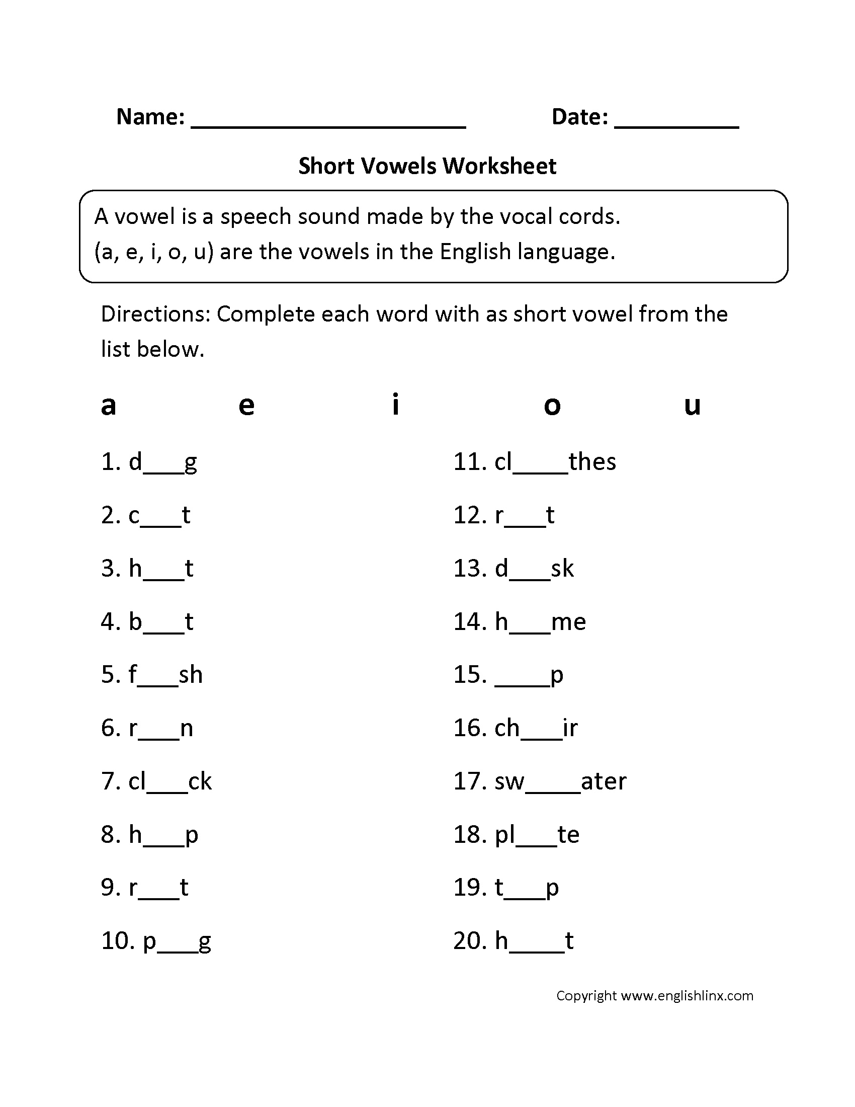 Free Worksheet Long And Short Vowel Worksheets vowel worksheets short and long worksheet