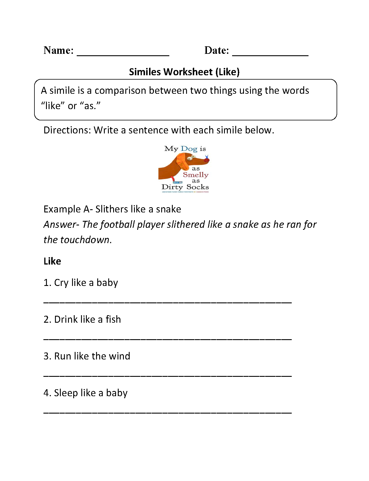 worksheet Metaphors Worksheets englishlinx com similes worksheets worksheet