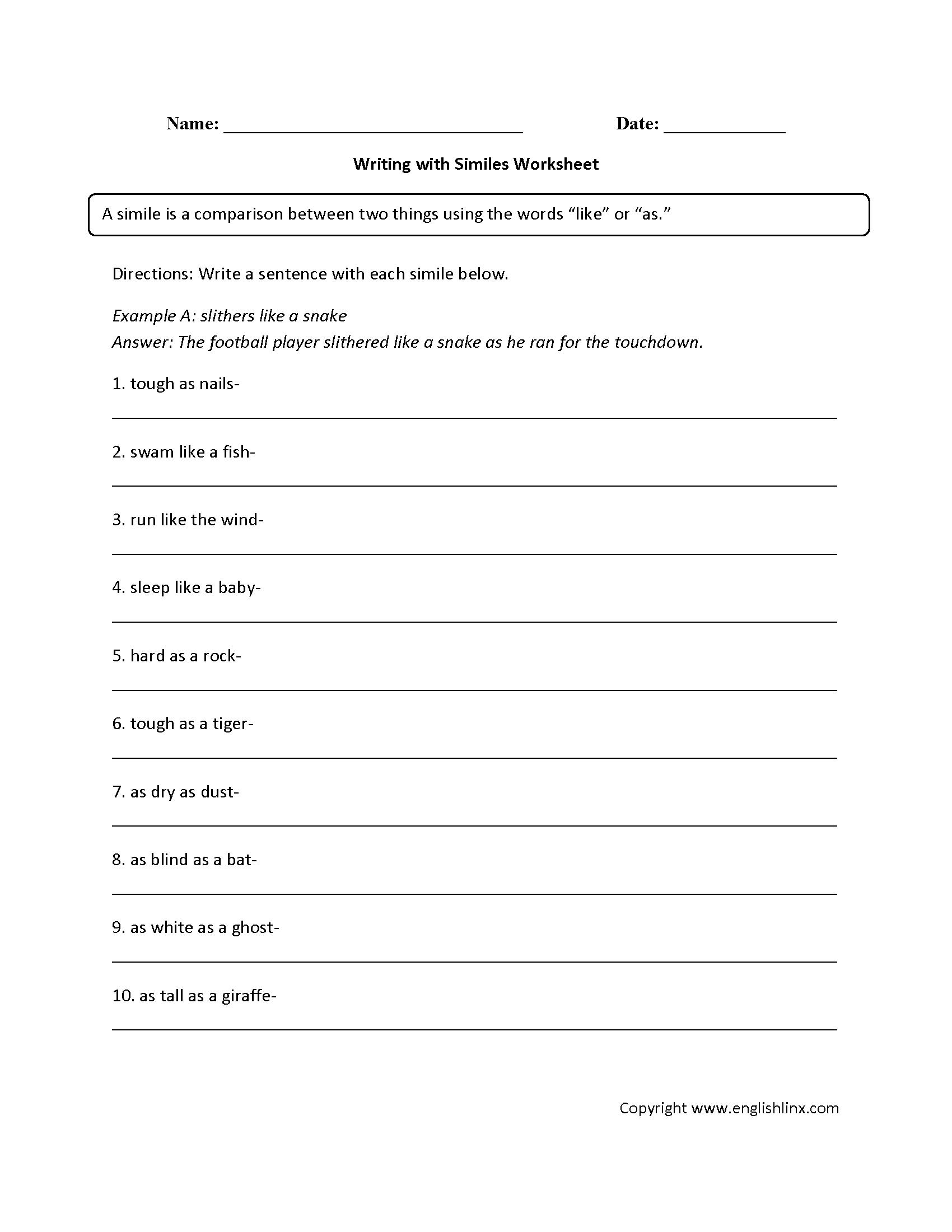Seventh Grade Writing Standards