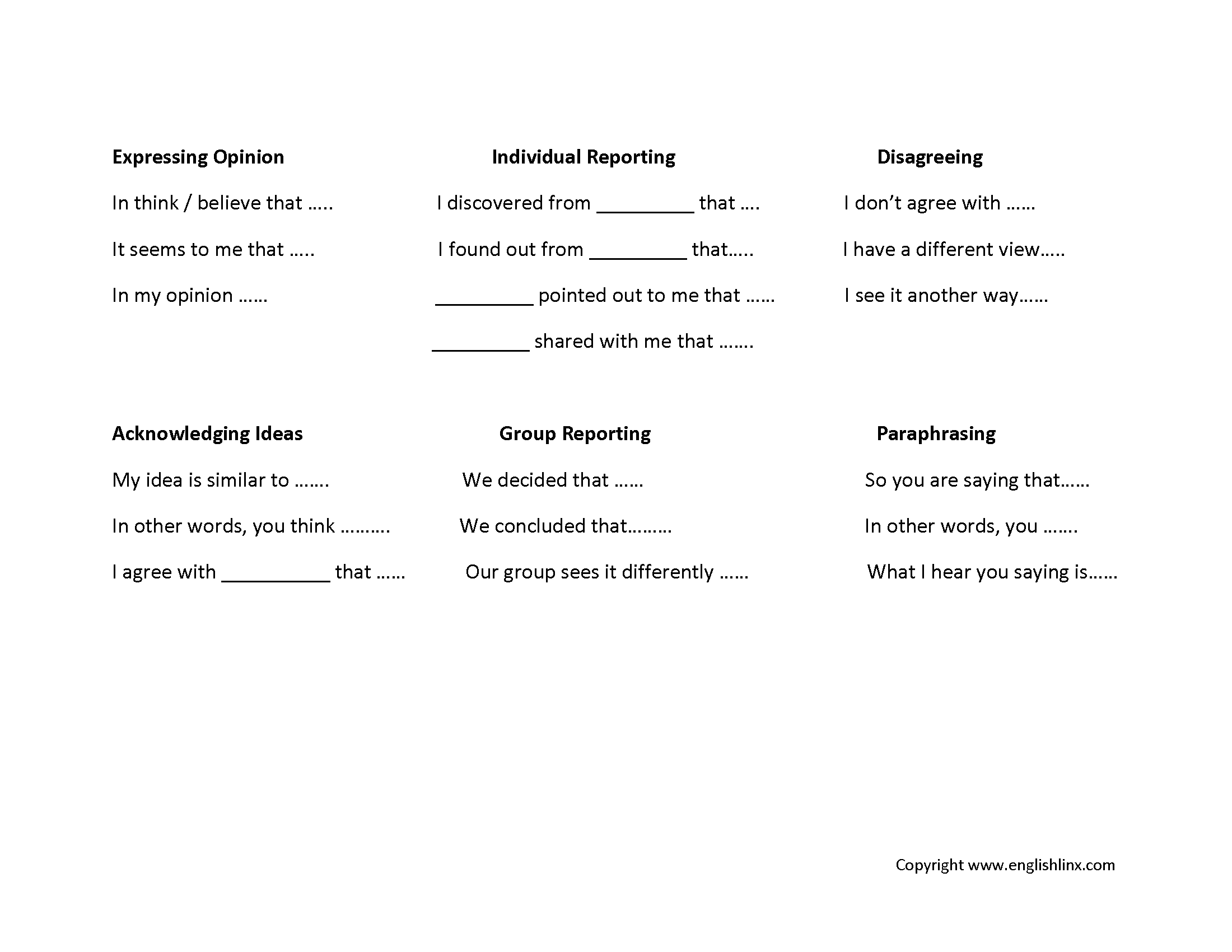 worksheet Public Speaking Worksheets englishlinx com speaking worksheets chart worksheets
