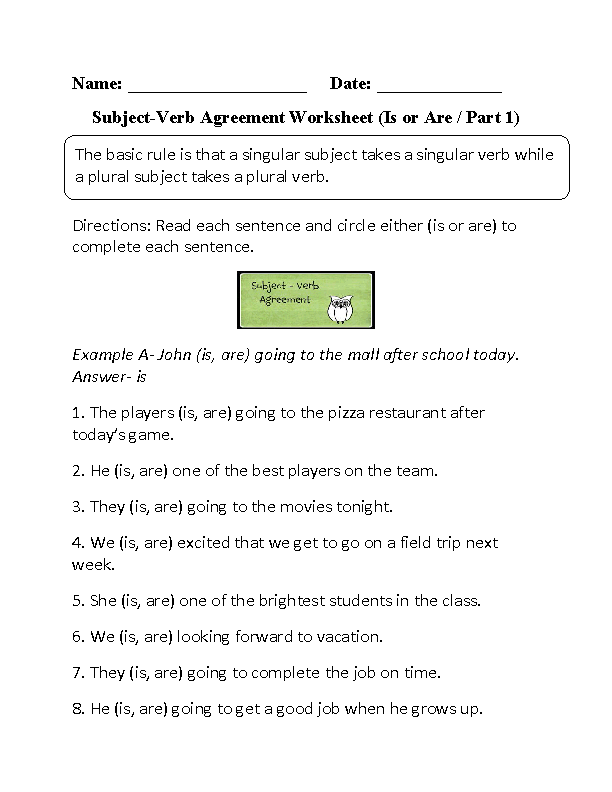 Subject Verb Agreement Worksheets – Subject Verb Agreement Practice Worksheets