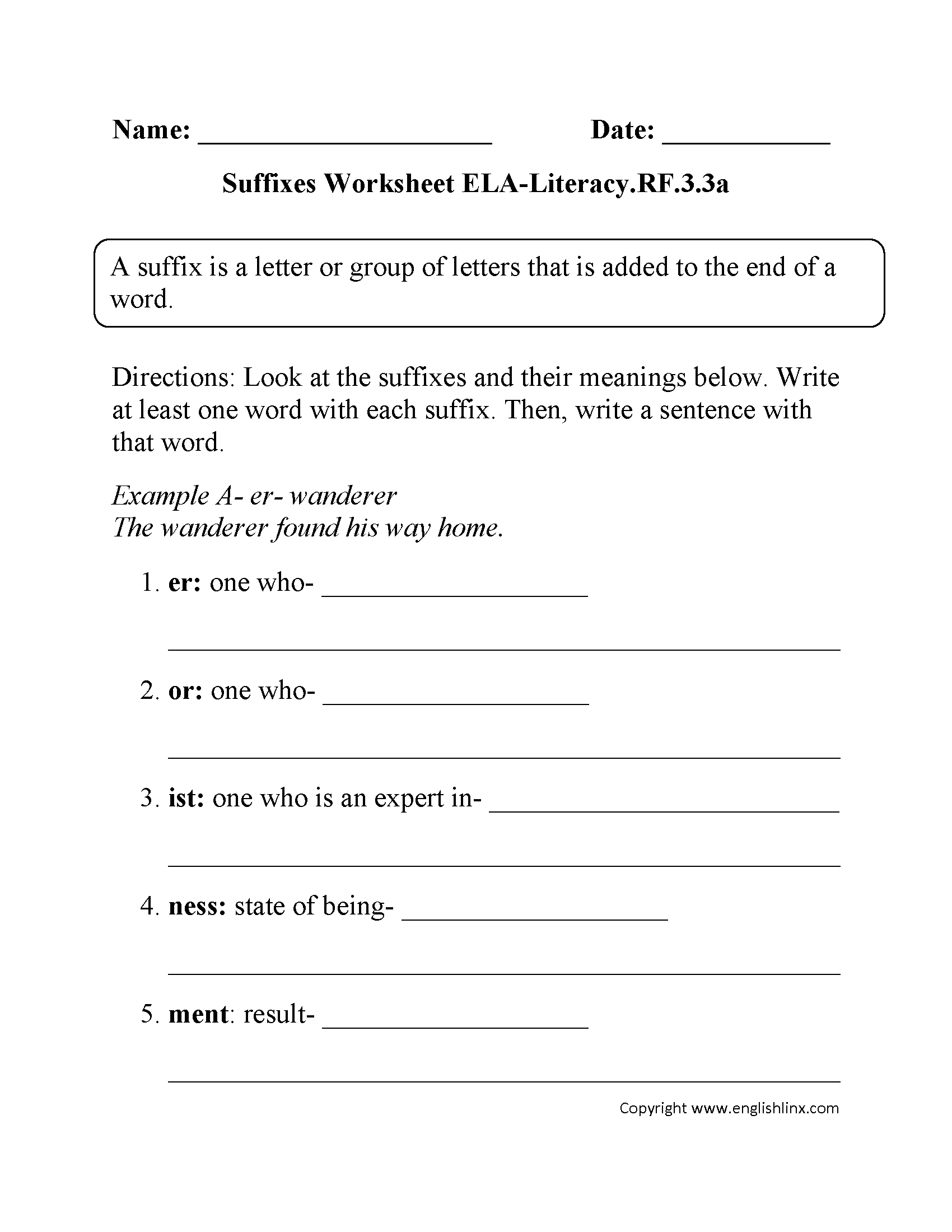 3rd Grade Common Core Reading Foundational Skills Worksheets