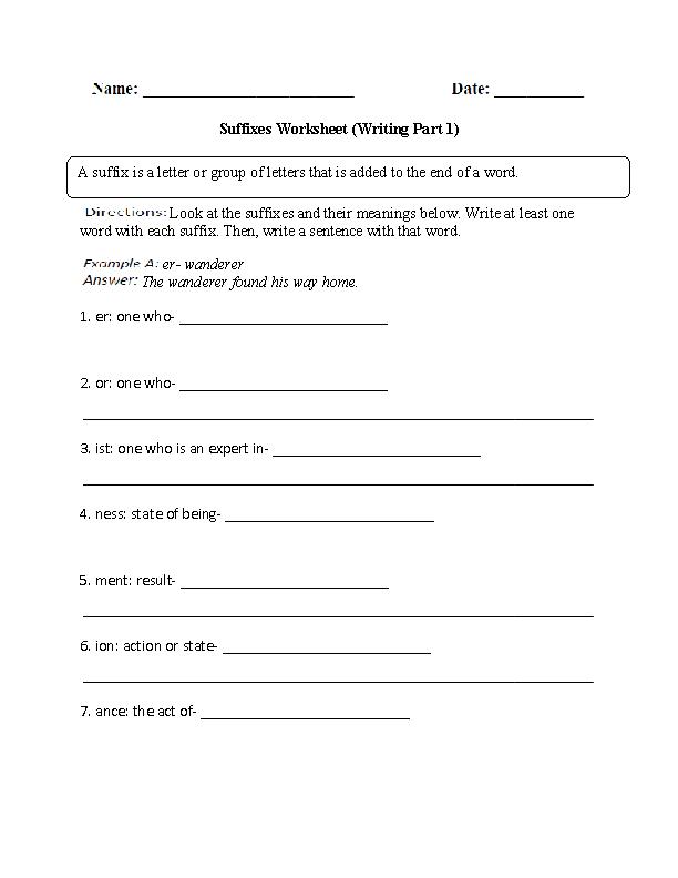 Englishlinx.com | Suffixes Worksheets