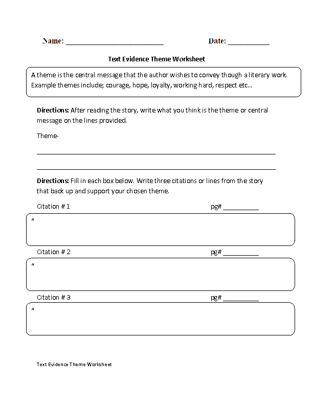 text evidence worksheets. Black Bedroom Furniture Sets. Home Design Ideas