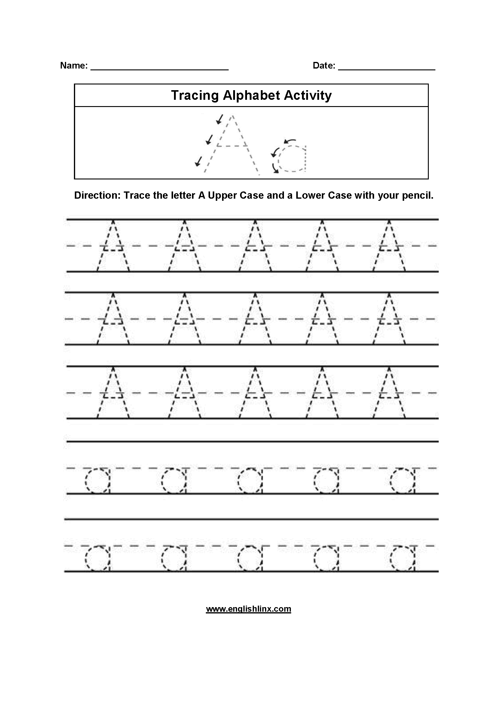 Worksheets Writing Alphabet Worksheets alphabet worksheets tracing worksheets