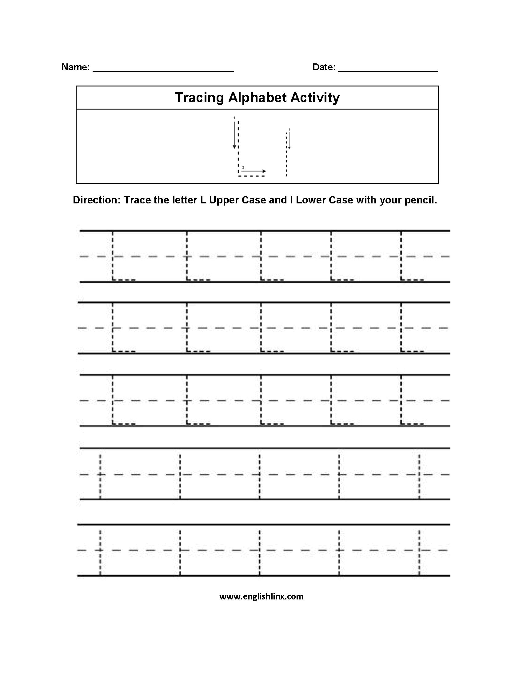 Alphabet Worksheets | Tracing Alphabet Worksheets