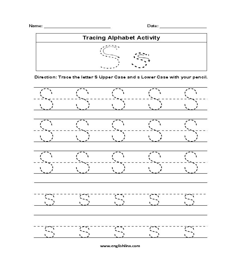 Alphabet Worksheets Tracing Alphabet Worksheets