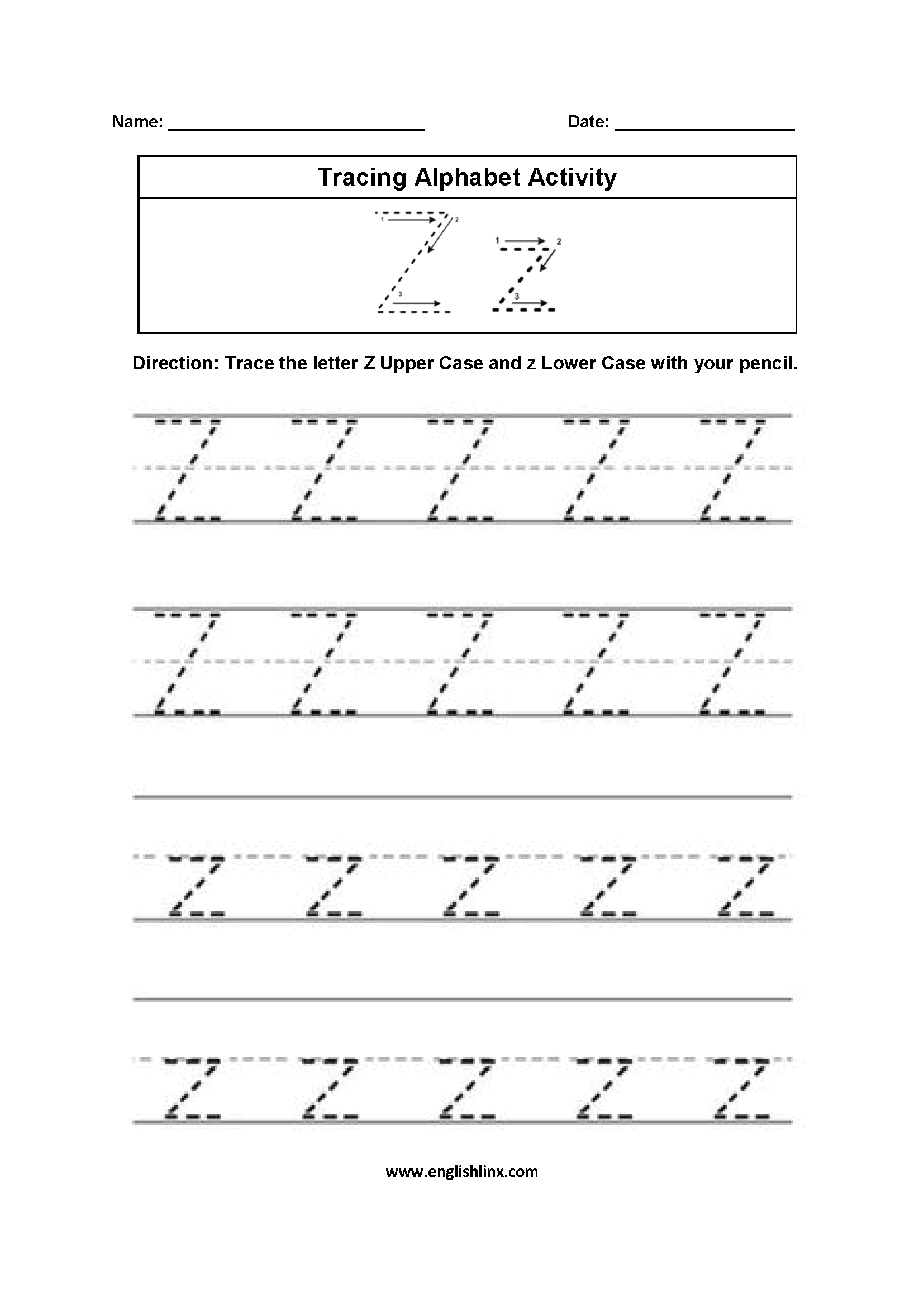 Alphabet Worksheets Tracing Alphabet Worksheets