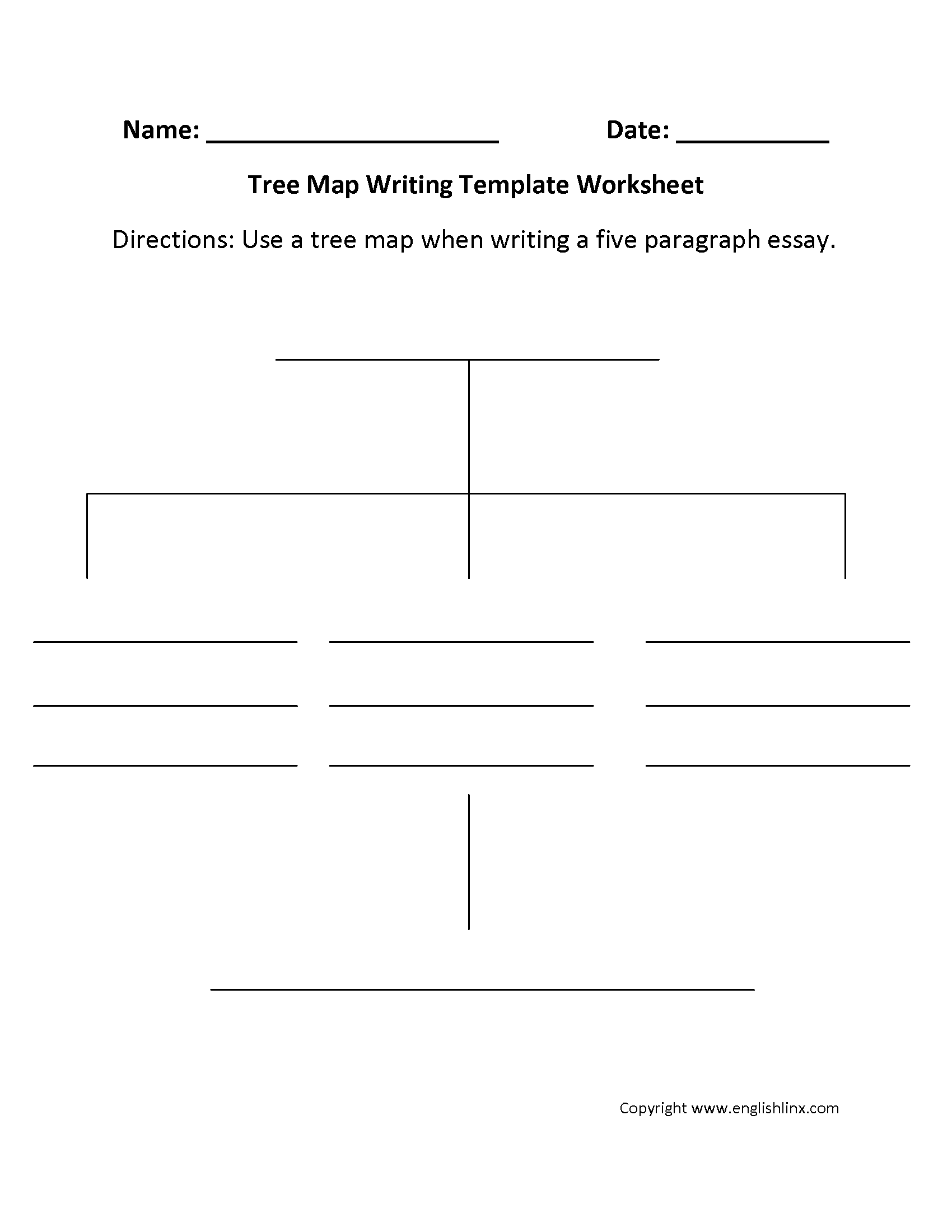 writing template worksheets tree map writing template worksheet tree map writing template worksheet