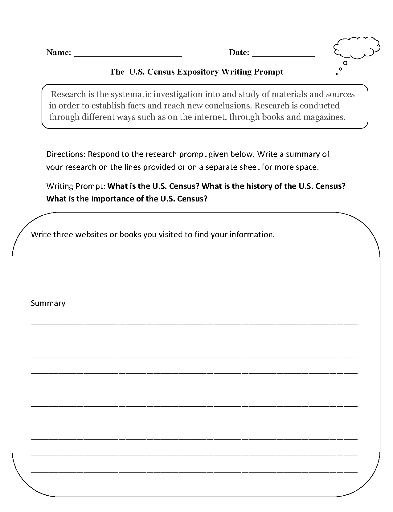 6th Grade Narrative Writing Prompts