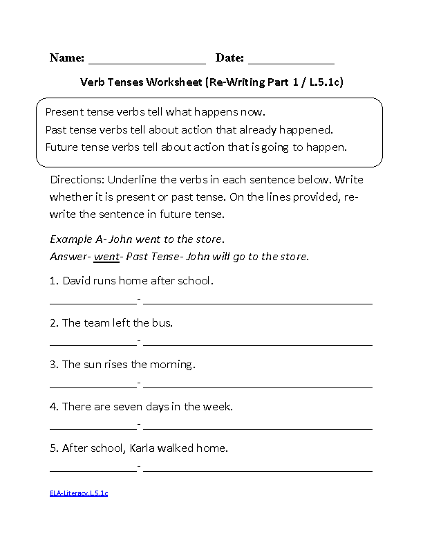 5th Grade Common Core – Writing Conventions Worksheets
