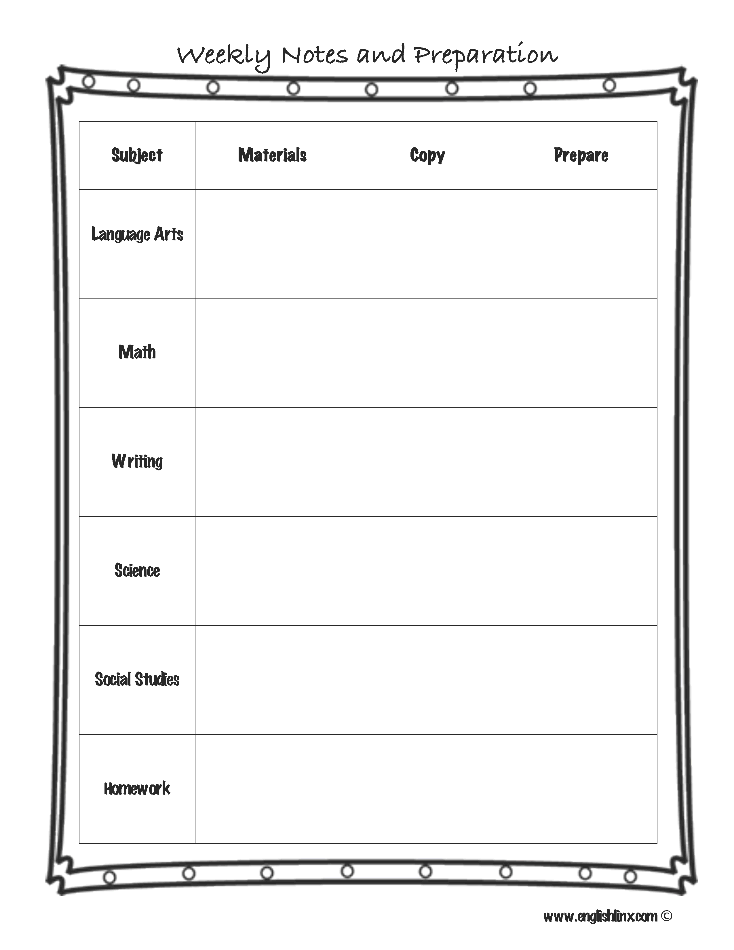 Englishlinxcom Lesson Plan Template - Common core lesson plan templates