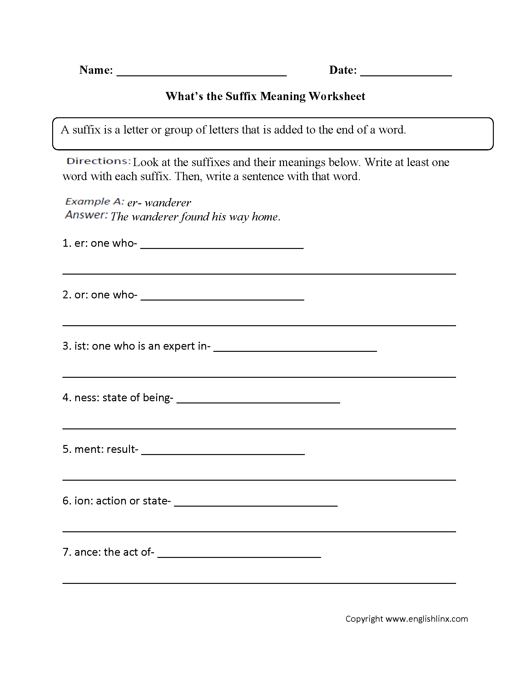 Worksheets 4th Grade Vocabulary Worksheets vocabulary worksheets suffix worksheet