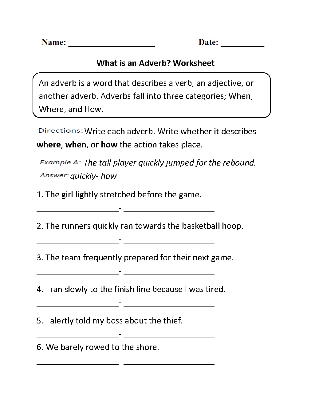 Worksheet Free Worksheets On Adverbs parts speech worksheets adverb what is an worksheets