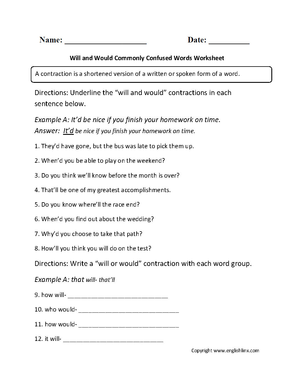 worksheet Commonly Confused Words Worksheet commonly confused words worksheets will and would worksheets