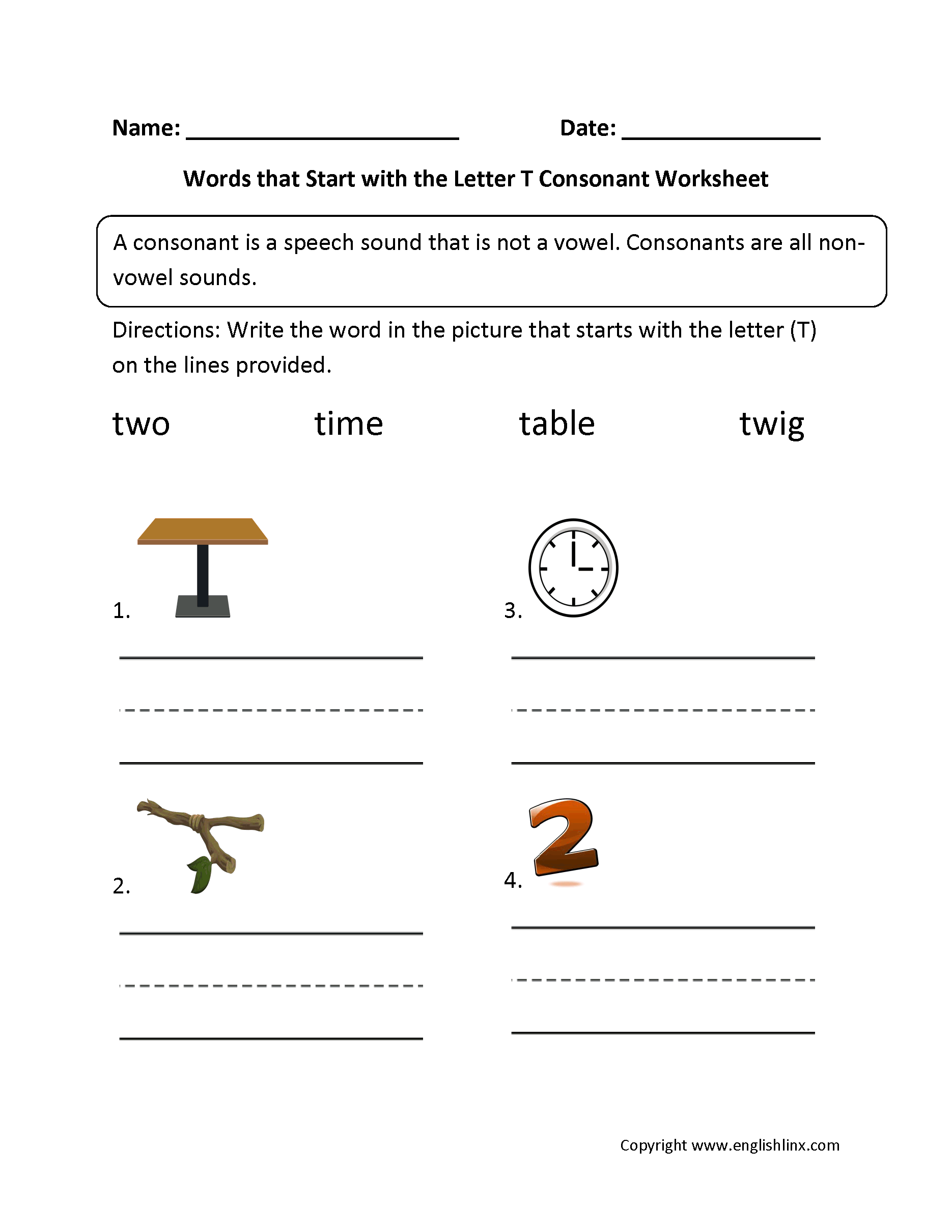 words that start with the same letter phonics worksheets consonant worksheets 51168