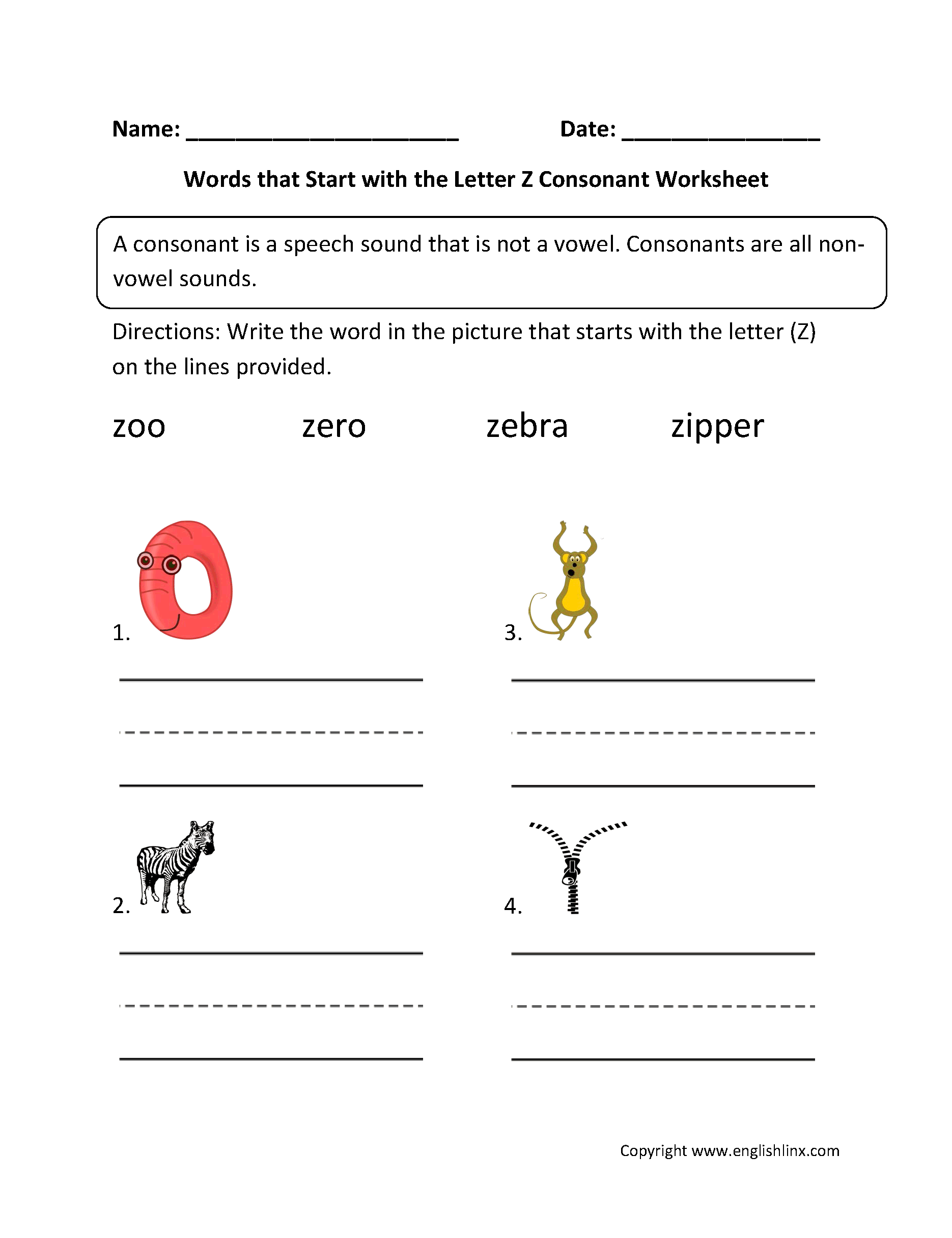 phonics worksheets consonant worksheets