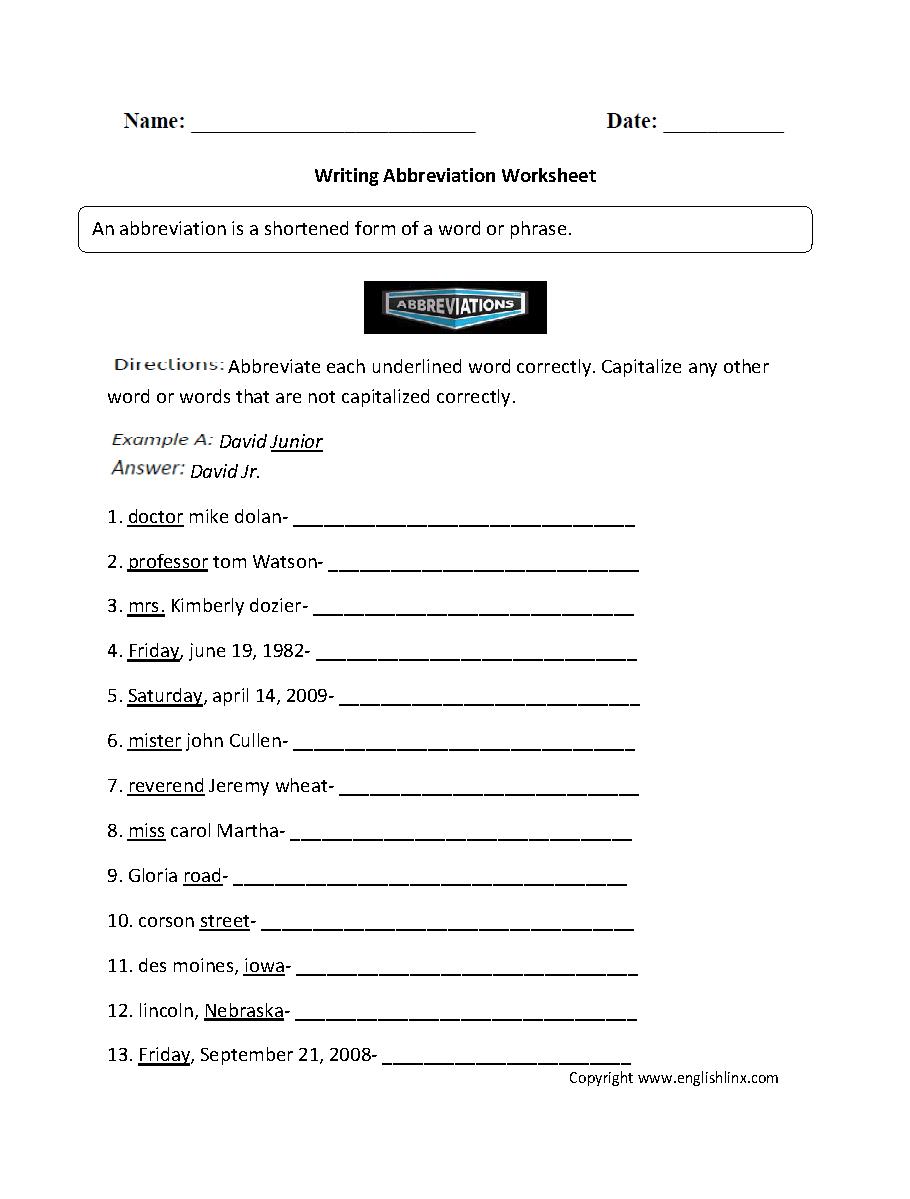 Grammar Worksheets Grammar Mechanics Worksheets