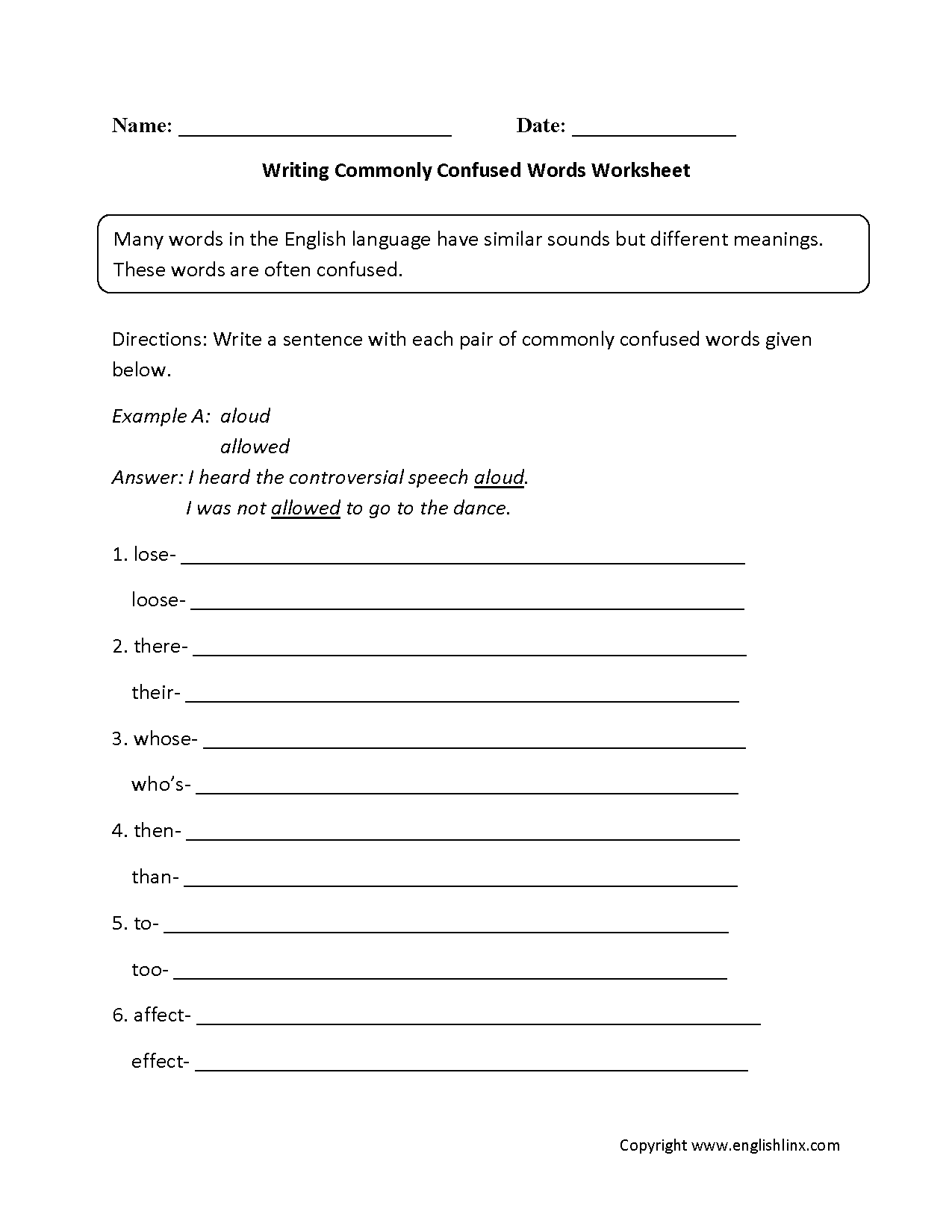 Uncategorized Then Vs Than Worksheet word usage worksheets commonly confused words worksheet