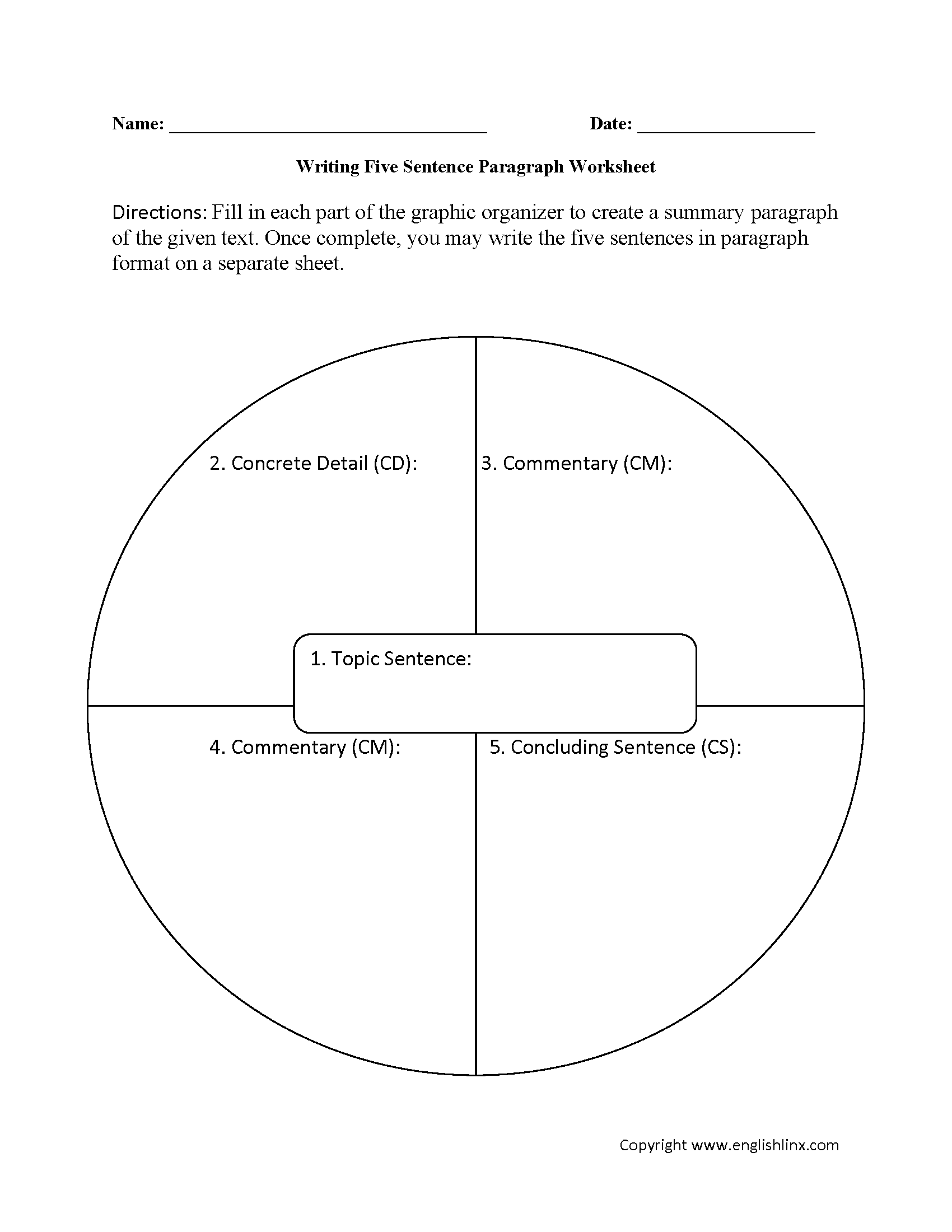Writing Worksheets – Paragraph Worksheets