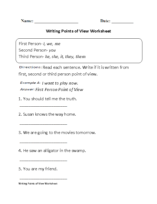 Worksheet Point Of View Worksheets 3rd Grade englishlinx com point of view worksheets points worksheet