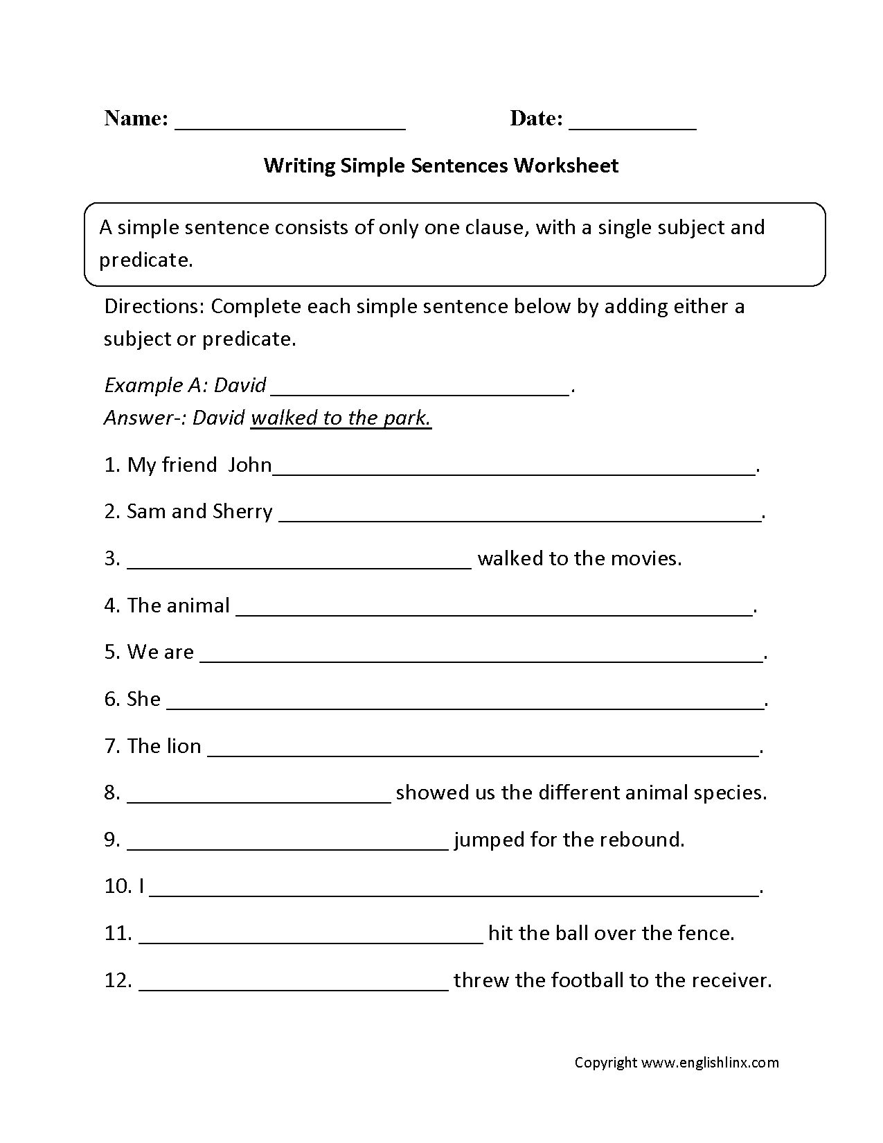 Free Worksheet Fourth Grade Writing Worksheets sentences worksheets simple worksheets