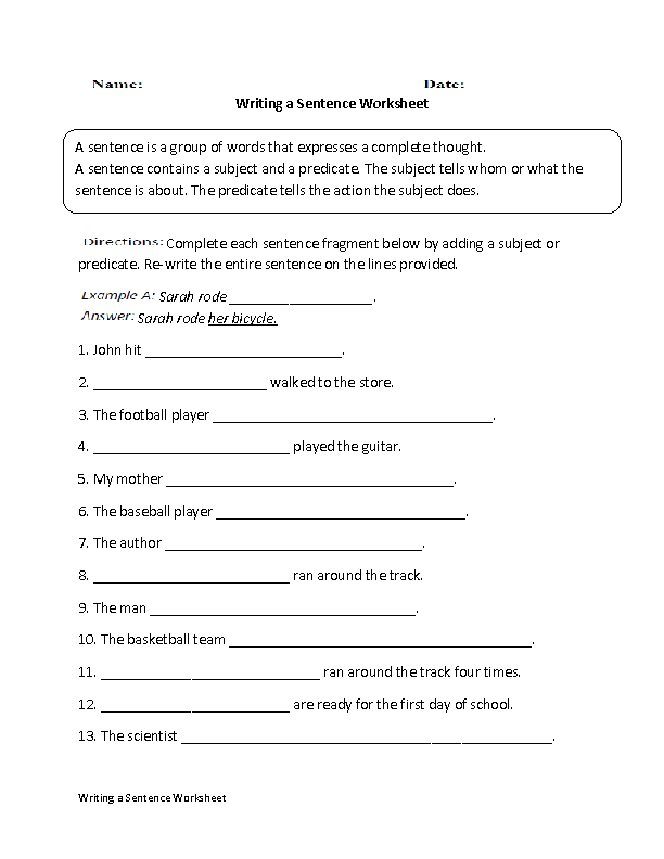Worksheets 7th Grade Writing Worksheets englishlinx com writing worksheets a sentence worksheet