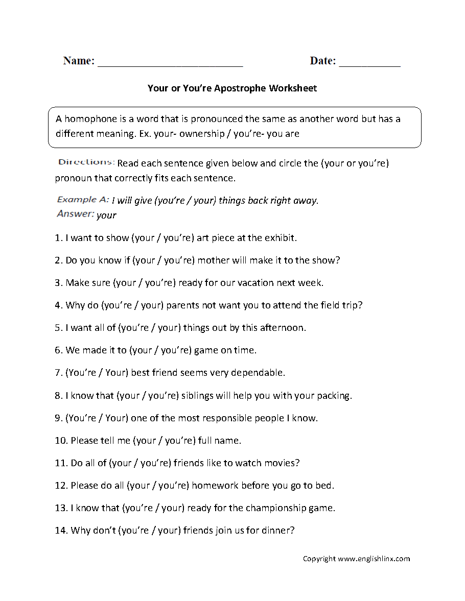 Worksheets Apostrophes Worksheet punctuation worksheets apostrophe worksheets